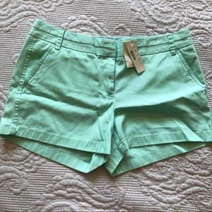 NWT J. Crew Mint Green Chino Shorts